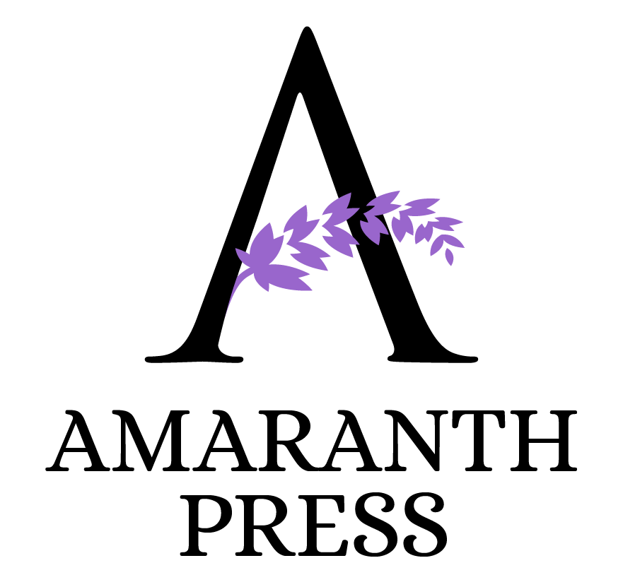 Amaranth Press logo with capital A and a sprig of amaranth flowers